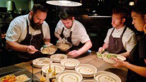 Chef Shayne Mansfield and his team, Flotilla NSW